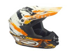 Casque Cross Rieju orange et blanc taille L