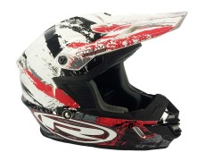 Casque Cross Rieju rouge et blanc taille M